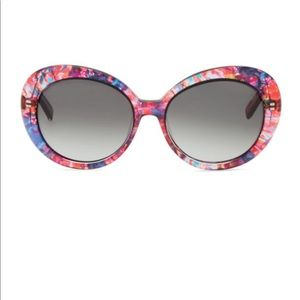 Kate Spade Watercolor round sunglasses pink